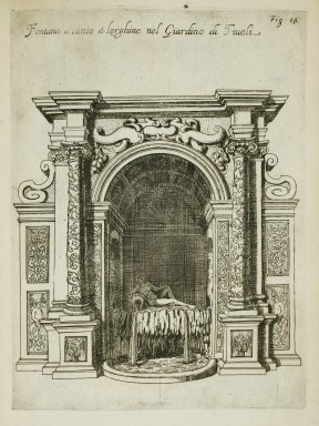"""Fountain [Sleeping Venus] near the Water organ in the garden at Tivoli"" (Fig. 18)"