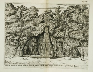 """""""Fountain in the garden of the [Villa] Belvedere at Frascati..."""" (Fig. 25)"""