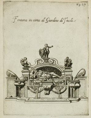 """""""Fountain of the swans in the garden at Tivoli"""" (Fig. 29)"""
