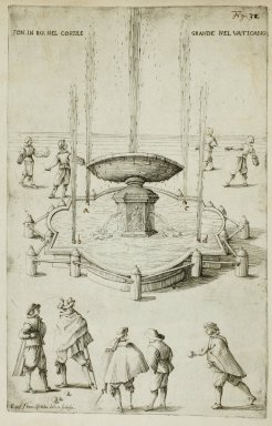 """""""Fountain in Rome in the great courtyard [Cortile Belvedere] in the Vatican"""" (Fig. 32)"""