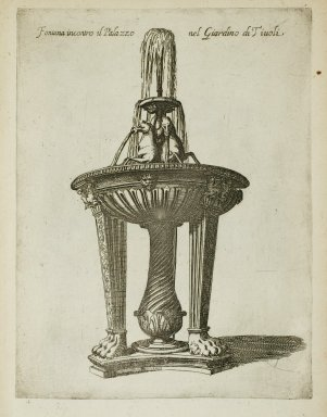 """""""Fountain in front of the palace in the garden at Tivoli"""" (Fig. 34)"""