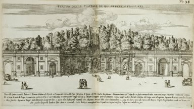 """Water theater in the [Villa] Belvedere at Frascati"" (Fig. 38)"