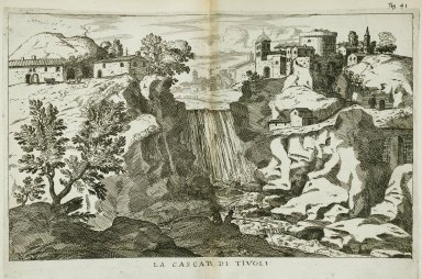 """""""The waterfall at at Tivoli"""" (Fig. 41)"""