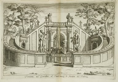 """""""Fountain in the gardens at Tivoli in front of the palace [Fountain of the dragon]"""" (Fig. 42)"""