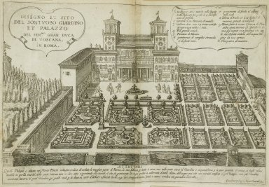 """""""Design and situation of the magnificent garden and palace of the great duke of Tuscany in Rome"""""""