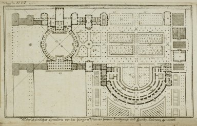 """""""Possible floor plan of the country house of the younger Pliny called Laurentian"""""""