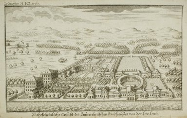 """""""Possible design of the country house of the younger Pliny called Laurentian, according to the designation in his seventeenth letter of the second book to Gallus"""" (frontispiece)"""