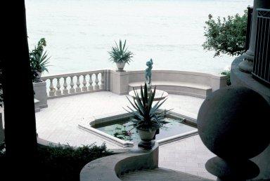 Fountain in pool