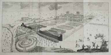 """General view of the palace and garden of Cinisello [Villa Silva Ghirlanda] of the count Donato Silva"""