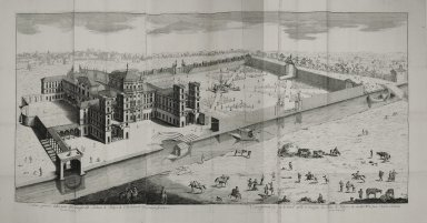 """General view from the side of the navigable canal of the palace of Robecco of his excellency Signore Carlo Archinti"""