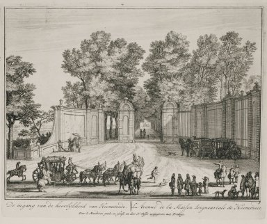 """""""Entrance to the estate of Heemstede"""" (Plate 3)"""