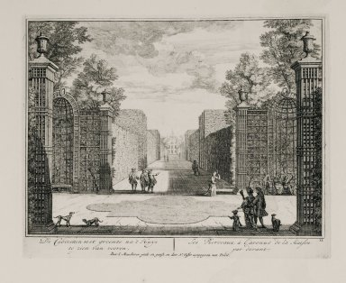 """""""The berceaux, from the entrance to the front of the house"""" (Plate 11)"""