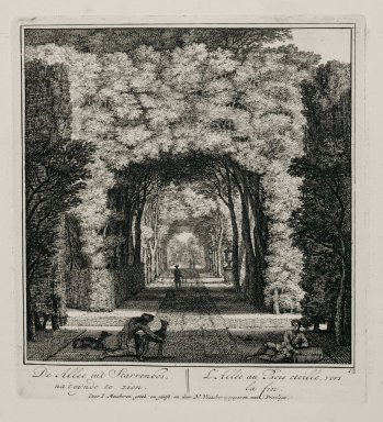 """""""The allée in the star-shaped bosquet near the end"""" (Plate 12)"""