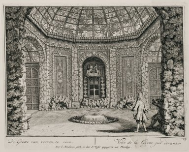 """View of the grotto from the front"" (Plate 24)"