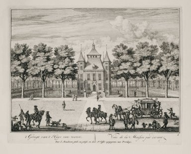 """""""View of the house from the front"""" (Plate 5)"""