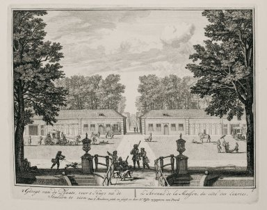 """""""Entrance to the house from the side of the stables"""" (Plate 6)"""