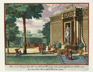 """Statue of Flora in an antique niche"""