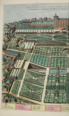 """""""Garden and palace near the villa of Tivoli"""""""