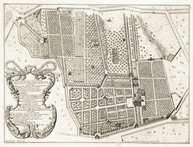 """Plan of the garden of his excellency the Prince Borghese outside of the Porta Pinciana"" (Plate 16)"