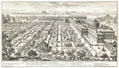 """View of the papal garden on the Quirinale. Architecture by Octavio Mascharini"" (Plate 5)"