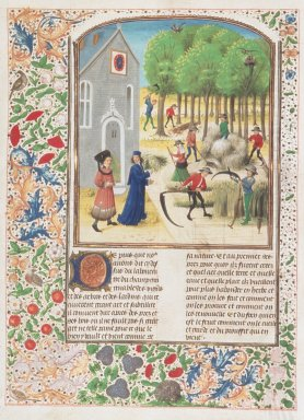 Le livre des prouffis champestres et ruraux, Book 7 On meadows and groves (folio 201v)
