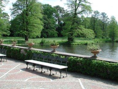 Pavilion terrace and garden