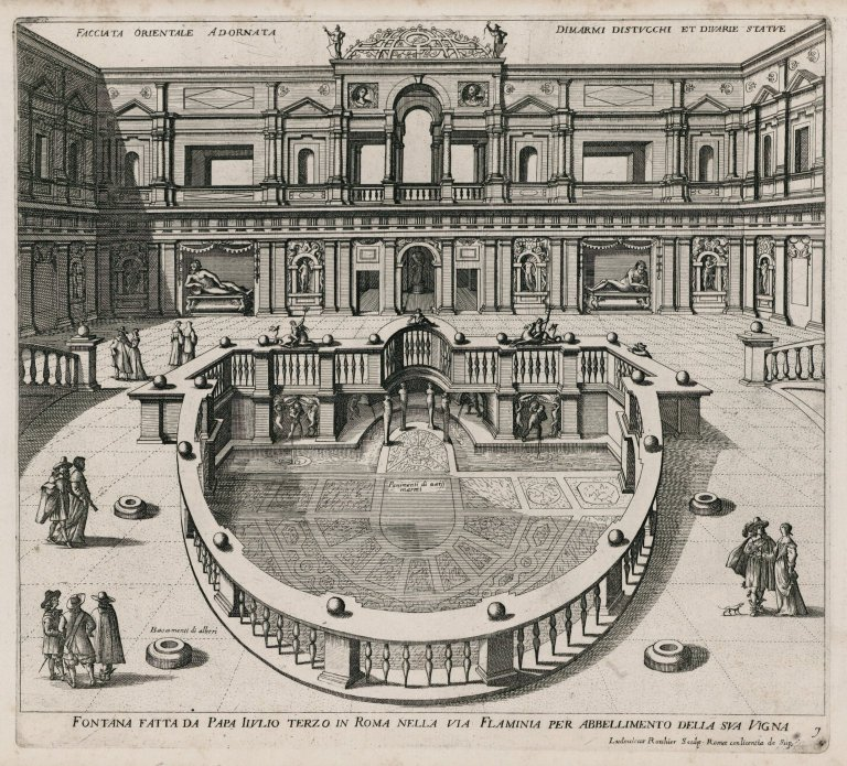 """""""Fountain made for Pope Julius III in Rome in the Via Flaminia to embellish his vineyard"""" (Fig. 7), """"Fountain made for Pope Julius III in Rome in the Via Flaminia to embellish his vineyard"""" (Fig. 7)"""
